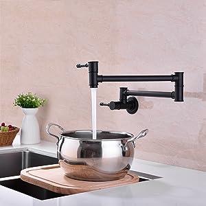 wall mounted pot filler faucet