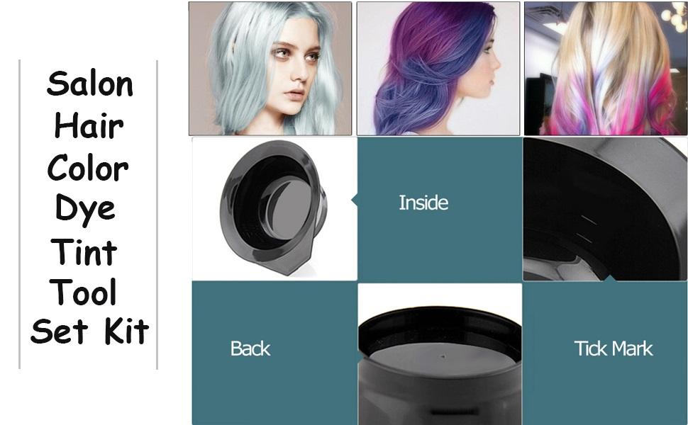 Anself 3 Pcs Kit de Tinte de Pelo (Bol de Tinte para el Cabello + Cepillo de Doble Cabeza + Cepillo de Tinte de Pelo)