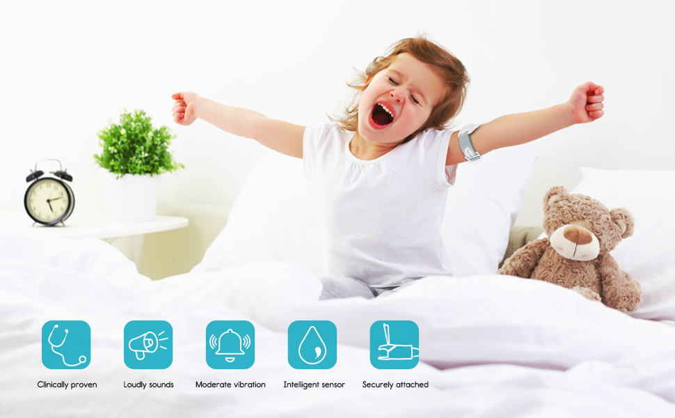 MODO-KING UPGRADED DETACHABLE BEDWETTING ALARM FOR AGES 3+