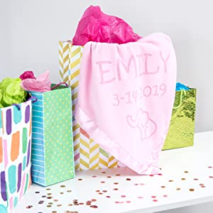 Elephant baby blanket gift for boy or girl