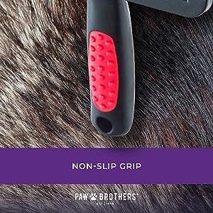 paw brother slicker brush non slip grip