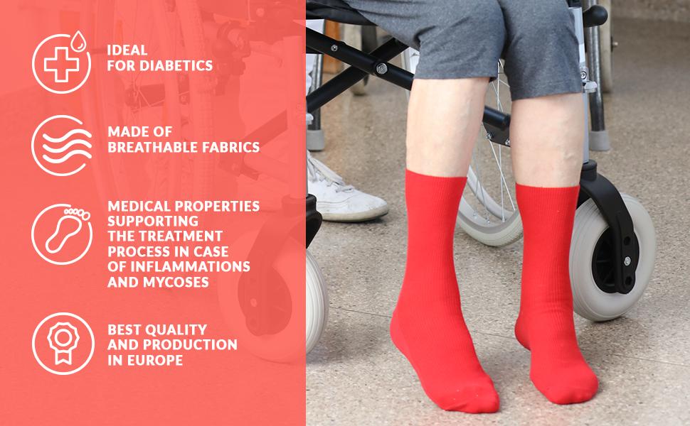 CHAUSSETTES MEDICAL Flexi-Top non élastique coton Diabetic pression sanguine 6-11 Pack de 3