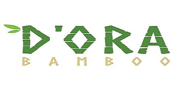 Brand Logo D ORA BAMBOO written in green and brown font and reflective of bamboo image