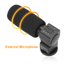 4K Video Camera With External Microphone