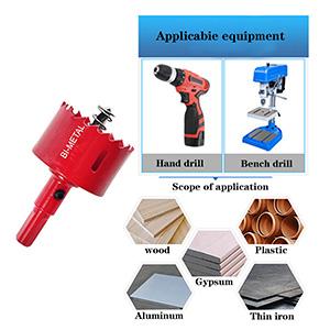 Hengory Lot de 7 scies-cloches en acier rapide HSS 15 tube plastique 50 mm pour bois fer aluminium