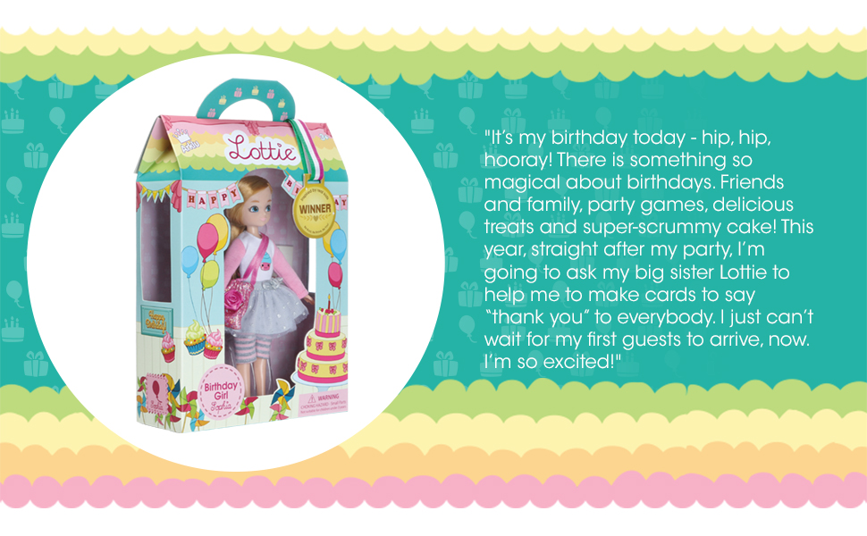 Lottie Dolls Birthday Girl Doll Perfect Toy for Girls and Boys