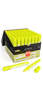 Highlighters-Set-of-64-(Wide-Chisel-Tip,-Yellow)