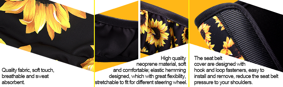 The car front seat covers are made of quality fabric and soft touch, easy to install and remove