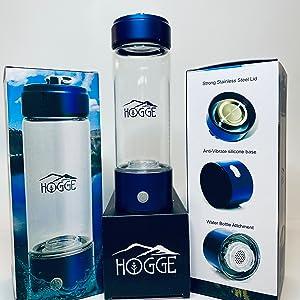 HOGGE Hydrogen alkaline water bottle alkaline water bottle alkalized water ionizer