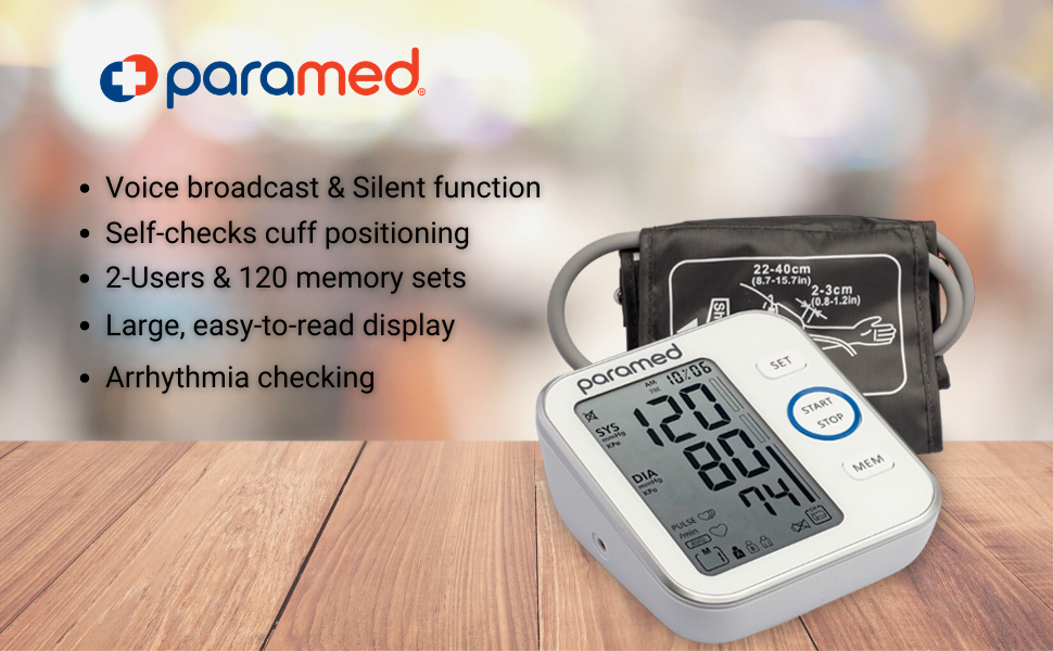 blood pressure monitor by paramed