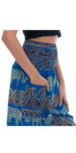 elephant pants pocket