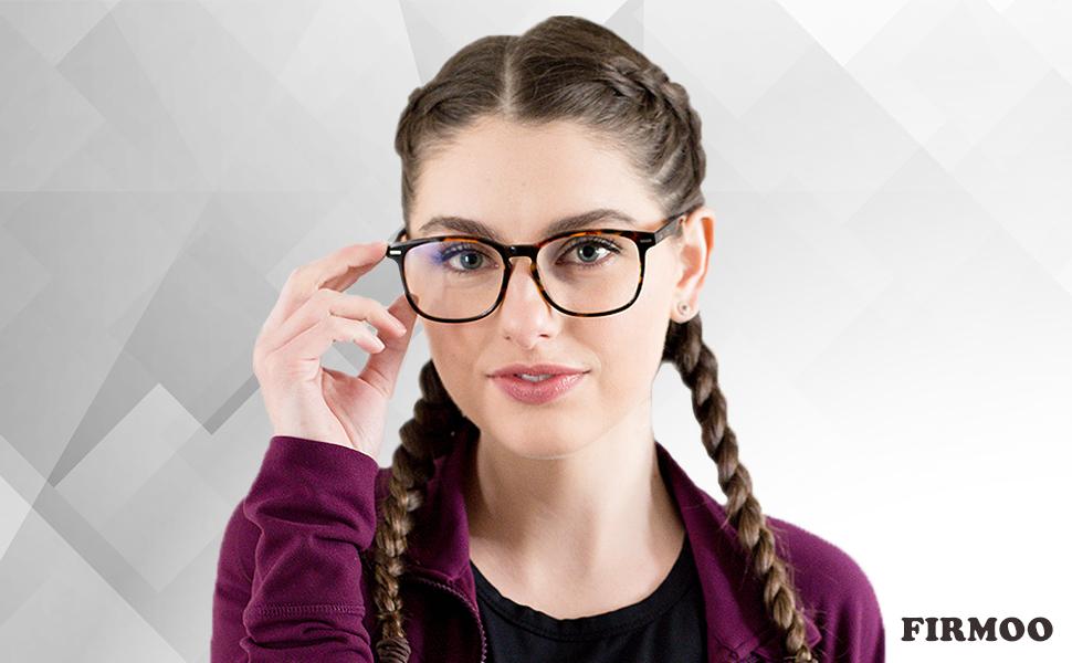 Leopard Firmoo Anti Blaulicht Computer Brille ohne Sehst/ärke Blaulichtfilter Brille f/ür Damen//Herren Rechteckige Schicke Brille Blaulichtblockierend//Blendfrei//Kratzfest Nerd Gaming Brille