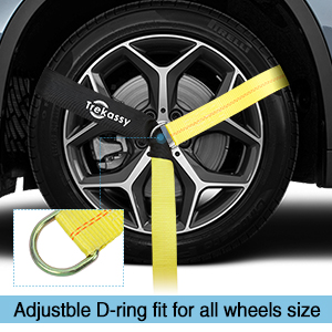 "e82b82d4 77ef 441c b419 b0acf66fad25. CR0,0,300,300 PT0 SX300 V1 - Trekassy 2""x 120"" Wheel Net Car Tie Down Straps Heavy Duty with Flat Hooks, 3333lbs Safe Working Load, 4 Pack Ratchet for Trailers with 8 Tire Straps, 2 Axle Straps"