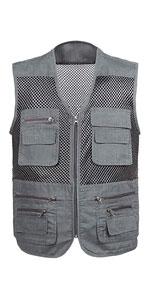 Men's Mesh Fishing Vest Outdoor Multi-Pocket Photography Journalist's Vest
