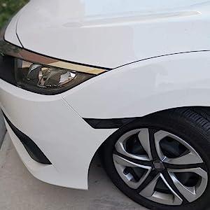 Black Smoked Lens Front Side Marker Housings For 2016-up Honda Civic Sedan Coupe Hatchback 10th Gen