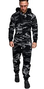 Men Fashion Camouflage Print One Pieces Jumpsuit