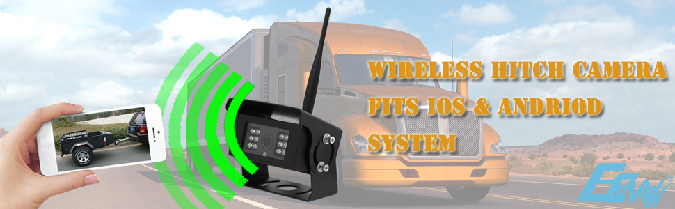 EWAY Wireless WiFi Backup Rear View Camera for Horse Travel Trailers//Truck//Fifth Wheels//RV//Camper//Barn Reverse Dash Cameras fits iPhone ipad or Andriod Mirror /& Non-Mirror//Guideline Switch
