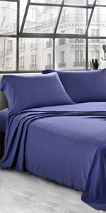 JERSEY SHEETS KNIT SHEETS TWIN KING  QUEEN TWIN XL SIZE COTTON FLAT SHEETS SET BED