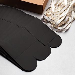 rectangle black box white ribbon instruction folding