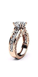 Transparent Diamond Rings,Women's Silver Floral Transparent Diamond Rings,wave Ring Wedding Ring