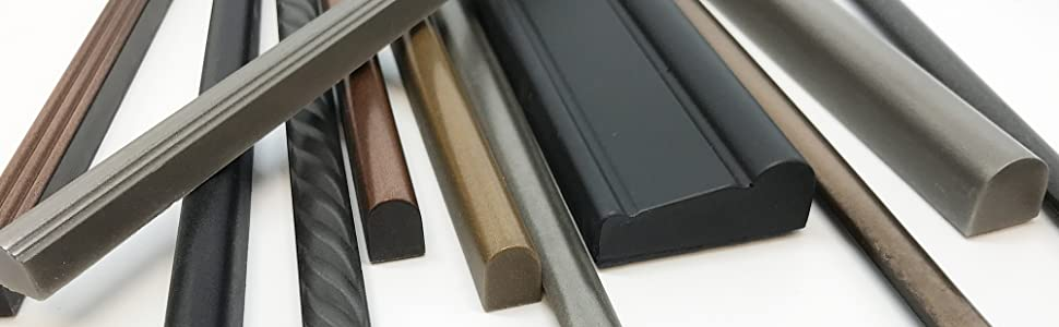 Metal molding and ceramic finish tile