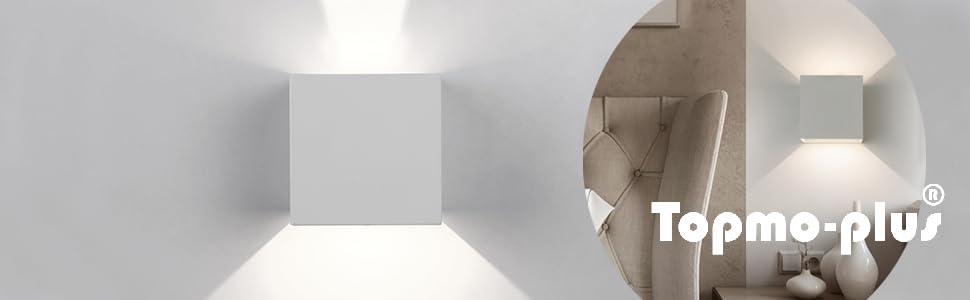 ip54 illuminazione esterna lampada da parete 306 LM 9 Watt LED MURO ESTERNO LAMPADA BIANCO