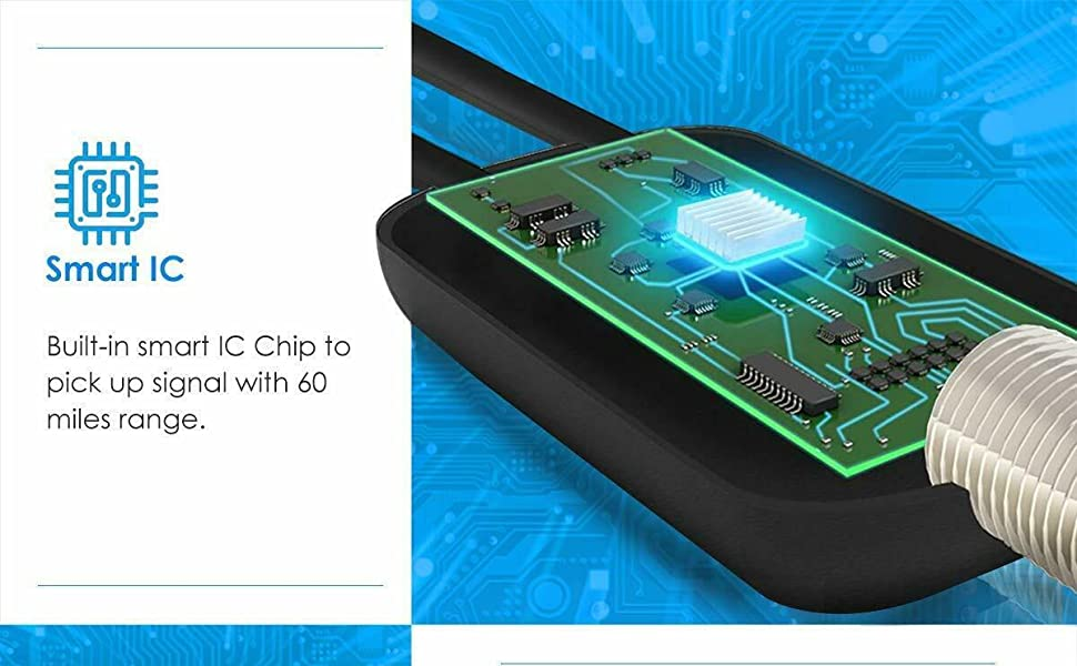 Smart IC Built-in smart IC Chip topick up signal with 60miles range.