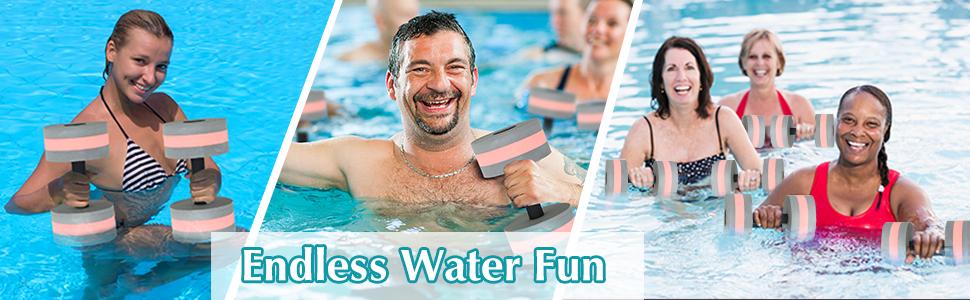pool dumbbells for water aerobics