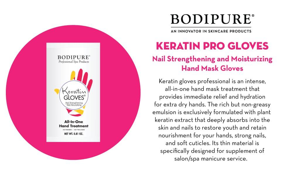 premium keratin gloves hand mask treatment nail care strengthening and moisturizing