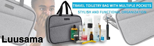 travel makeup bag double layer