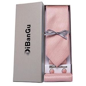 solid blush pink tie set