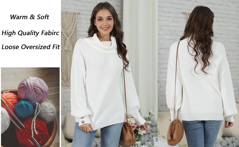 Women's Oversized Long Sleeve Sweaters