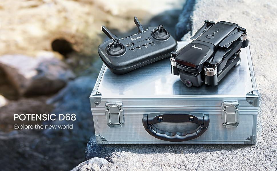 Potensic D68 folable GPS 2k CAMERA DRONE
