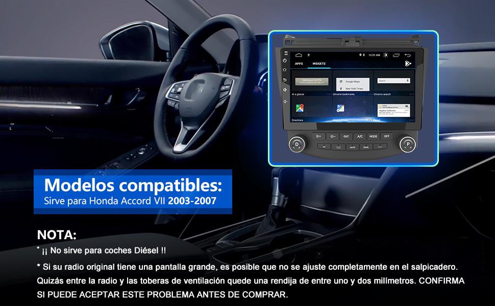 radio Honda Accord Android autoradio Honda Accord Android reproductor Honda Accord Android