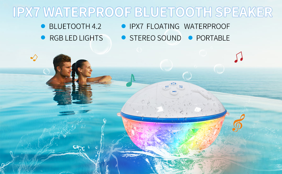 Water Bluetooth Speaker - White