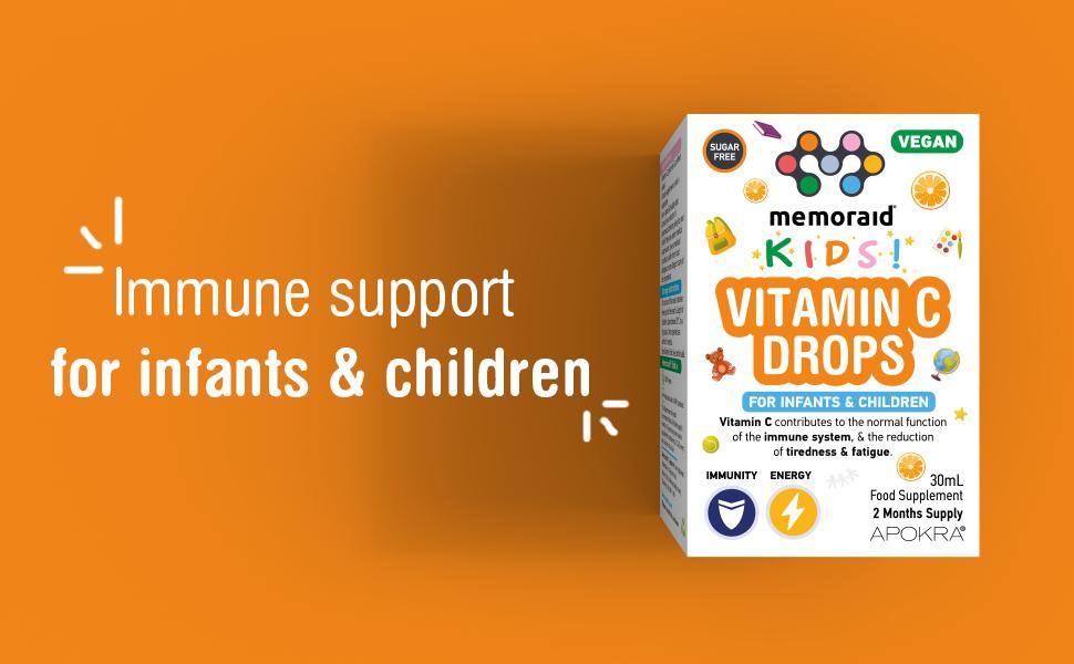 vitamin c drops immune support infants children vegan energy liquid taste