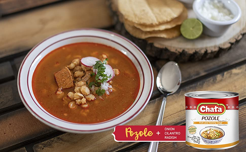 Soup, Canned, Pork, Authentic, Broth, Corn, Spice, Latin, Mexico, Seasoned, Flavor, Heat, Hominy