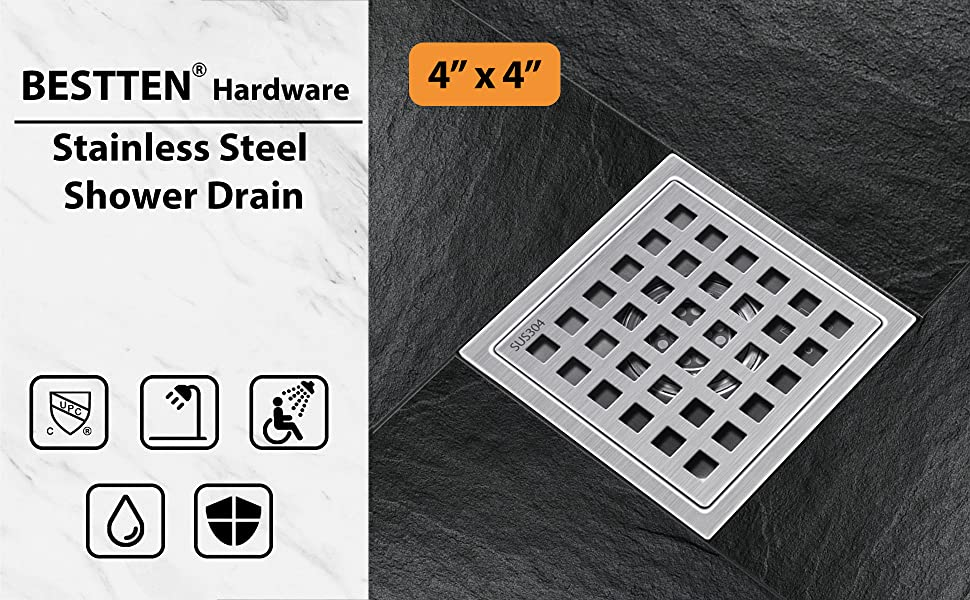Square Shower Floor Drain