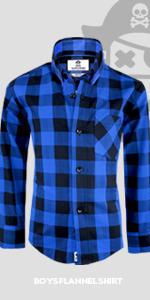 Black n Bianco Boys Plaid Flannel Button Down Shirt