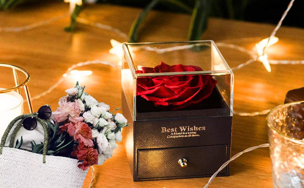 Rosa eterna confezione regalo mamma regalo anniversario per lei regalo fidanzata fiori compleanno