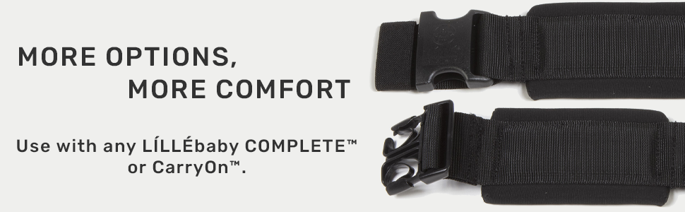 more options, more comfort, waist extension, carryon, lillebaby