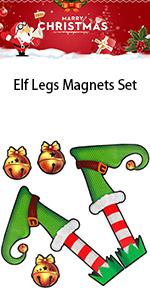Elf Legs Christmas Magnets Set