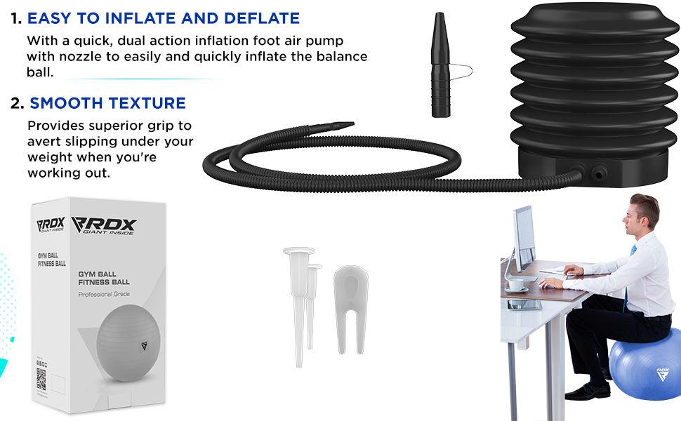 Exercise Ball Anti-Burst Extra Thick PVC Material, Soft Swiss Balance Ball
