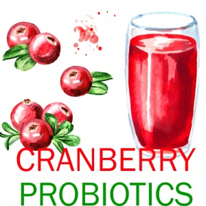illustration of cranberries and a glass of cranberry juice
