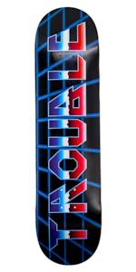 TROUBLE SKATEBOARDS Tie Dye Skateboard Deck 8.0 8.1 8.25 8.50 North American Maple Professional Decks D18