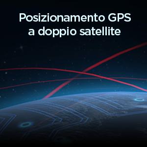 Posizionamento GPS a doppio satellite ad alta precisione