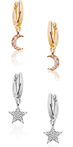 Butterfly Stud Earrings - Hypoallergenic Simulated Diamond CZ Rhinestone Wing Dangles Crystal Posts