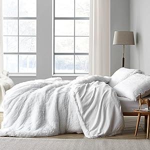 Neutral white Plush Soft Oversized Extra Large Bedding Baffle Box Comforter