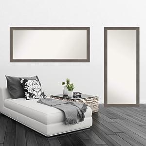 framed door mirror