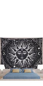 Black Sun Tapestry